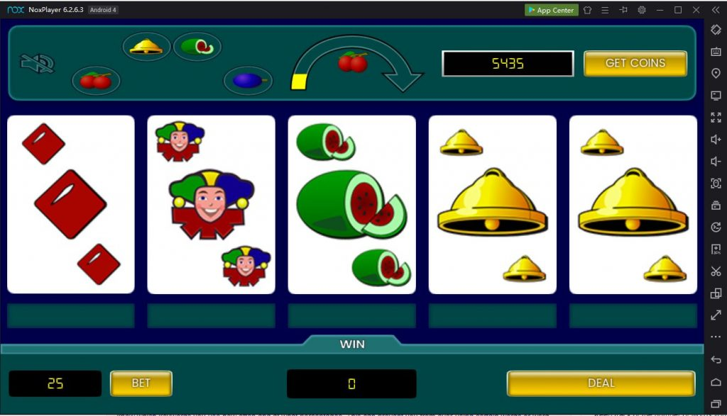 Fruit poker Classic PC emulation